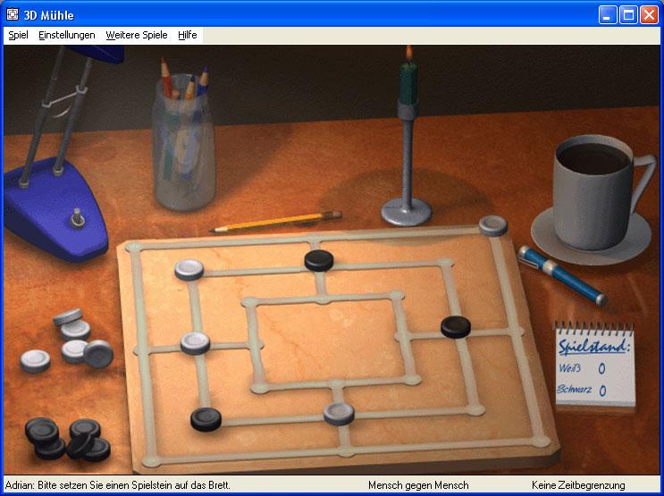 Screenshot vom Programm: 3D Mühle